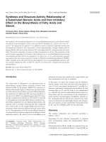 Synthesis and Structure-Activity Relationship of 4-Substituted Benzoic Acids and their Inhibitory Effect on the Biosynthesis of Fatty Acids and Sterols.