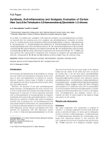 Synthesis Anti-inflammatory and Analgesic Evaluation of Certain New 3a499a-Tetrahydro-49-benzenobenz[f]isoindole-13-diones.