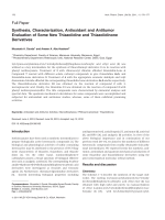 Synthesis Characterization Antioxidant and Antitumor Evaluation of Some New Thiazolidine and Thiazolidinone Derivatives.