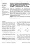 Synthesis Structure and Antibacterial Activity of 4-Imino-1 4-dihydrocinnoline-3-carboxylic Acid and 4-Oxo-1 4-dihydrocinnoline-3-carboxylic Acid Derivatives as Isosteric Analogues of Quinolones.