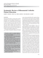 Systematic review of rheumatoid arthritis patient education.