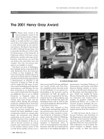 The 2001 Henry Gray award.