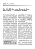 The risk of cardiovascular thrombotic events with selective cyclooxygenase-2 inhibitors.