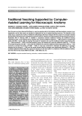 Traditional teaching supported by computer-assisted learning for macroscopic anatomy.