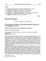 Untersuchung der Diffusionswiderstnde lipophiler Membranen in Abhngigkeit vom pH Variation with pH of the Resistance of Lipophilic Membranes to Diffusion.