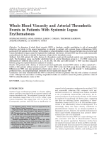 Whole blood viscosity and arterial thrombotic events in patients with systemic lupus erythematosus.