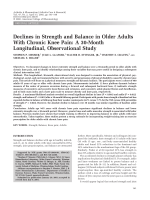 Declines in strength and balance in older adults with chronic knee painA 30-month longitudinal observational study.
