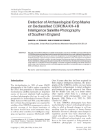 Detection of archaeological crop marks on declassified CORONA KH-4B intelligence satellite photography of Southern England.