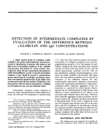 Detection of intermediate complexes by evaluation of the difference between ╨Ю╤Ц-globulin and igg concentrations.