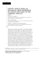 Dietary wheat germ oil influences gene expression in larvae and eggs of the oriental fruit fly.