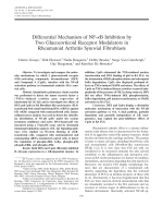 Differential mechanism of NF-╨Ю╤ФB inhibition by two glucocorticoid receptor modulators in rheumatoid arthritis synovial fibroblasts.