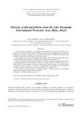 Diversity of fish and fisheries from the Lake Encantada Environmental Protection Area  Ilh├йus  Brazil.