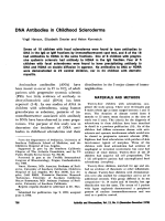DNA antibodies in childhood scleroderma.