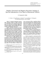 Doppler ultrasound and magnetic resonance imaging of synovial inflammation of the hand in rheumatoid arthritisA comparative study.