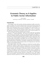 Economic theory as it applies to public sector information.
