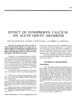 Effect of fenoprofen calcium on acute gouty arthritis.