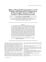 Effect of HypoxiaReoxygenation on Cell Viability and Expression and Secretion of Neurotrophic Factors NTFs in Primary Cultured Schwann Cells.