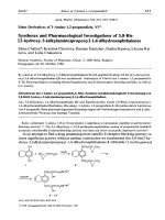 Ether Derivatives of 3-Amino-12-propanediols VI Syntheses and Pharmacological Investigations of 58-Bis[2-hydroxy-3-alkylaminopropoxy]-14-dihydronaphthalenes.