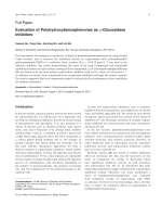Evaluation of Polyhydroxybenzophenones as ╨Ю┬▒-Glucosidase Inhibitors.