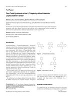 First Total Synthesis of the 27-Naphthyridine Alkaloids Lophocladine A and B.