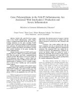 Gene polymorphisms in the NALP3 inflammasome are associated with interleukin-1 production and severe inflammationRelation to common inflammatory diseases.