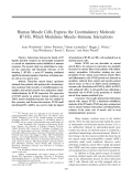 Human muscle cells express the costimulatory molecule B7-H3 which modulates muscleimmune interactions.