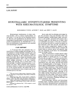 HYPOTHALAMIC HYPOPITUITARISM PRESENTING WITH RHEUMATOLOGIC SYMPTOMS.