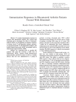 Immunization responses in rheumatoid arthritis patients treated with rituximabResults from a controlled clinical trial.