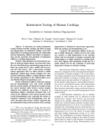 Indentation testing of human cartilageSensitivity to articular surface degeneration.