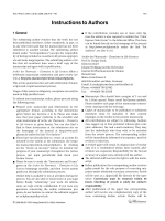 Instructions to AuthorsArchiv der Pharmazie 72006.