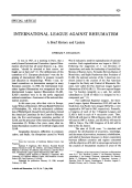 International league against rheumatismA brief history and update.