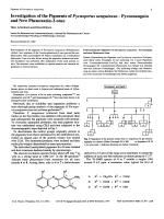 Investigation of the Pigments of Pycnoporus sanguineus - Pycnosanguin and New Phenoxazin-3-ones.