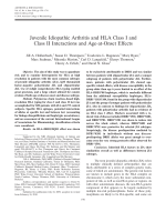 Juvenile idiopathic arthritis and HLA Class I and Class II interactions and age-at-onset effects.