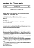 Kinetic Aspects of the Dissolution and Partition of Diclofenac Alclofenac and Their Sodium Salts.