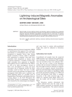 Lightning-induced magnetic anomalies on archaeological sites.