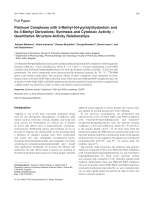 Platinum Complexes with 5-Methyl-54-pyridylhydantoin and Its 3-Methyl DerivativesSynthesis and Cytotoxic Activity  Quantitative Structure-Activity Relationships.