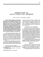 Presentation of occult giant cell arteritis.