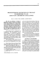 Progesterone secretion in the rat in response to an adjuvant arthritis challenge.