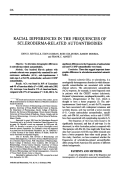 Racial Differences in the Frequencies of Scleroderma-Related Autoantibodies.