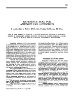 Reference sera for antinuclear antibodies. I. Antibodies to native DNA Sm nuclear RNP and SS-BLa