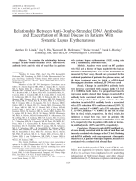 Relationship between antidouble-stranded DNA antibodies and exacerbation of renal disease in patients with systemic lupus erythematosus.