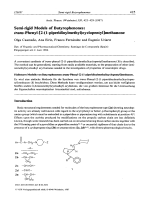 Semi-rigid Models of Butyrophenonestrans-Phenyl-[2-1-piperidinylmethylcyclopentyl]methanone.