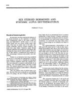 Sex steroid hormones and systemic lupus erythematosus.