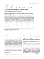 Simultaneous Determination of Essential Basic Amino Acids in Pharmaceuticals by Capillary Isotachophoresis.