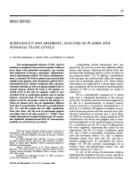 Substance p and arthritisanalysis of plasma and synovial fluid levels.