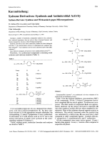 Sydnone DerivativesSynthesis and Antimicrobial Activity Sydnon-DerivateSynthese und Wirksamkeit gegen Mikroorganismen.