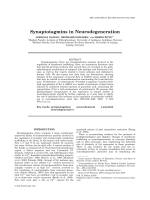 Synaptotagmins in Neurodegeneration.
