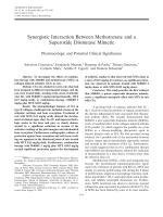 Synergistic interaction between methotrexate and a superoxide dismutase mimeticPharmacologic and potential clinical significance.