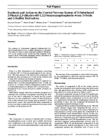 Synthesis and Action on the Central Nervous System of 3-Substituted 2-Phenyl-23-dihydro-4H-132-benzoxazaphosphorin-4-one 2-Oxide and 2-Sulfide Derivatives.
