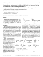 Synthesis and Antibacterial Activity of 1- -Methylcarbapenem Having a 13-Diazabicyclo[3.3.0]octan-4-one Moiety